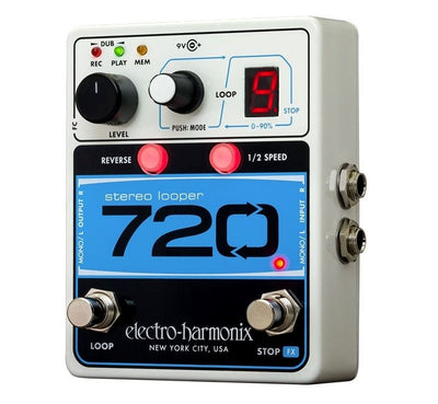 Electro Harmonix EHX 720 Stereo Looper Guitar and Bass Effects Pedal