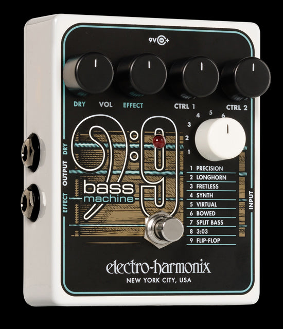 Electro-Harmonix EHX Bass9 Bass Machine Synth Effect Effects Pedal