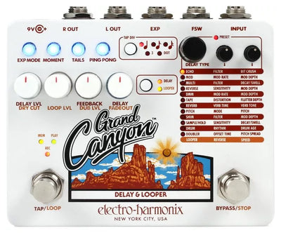 Electro-Harmonix EHX USA Grand Canyon Electric Guitar Delay Looper Effect Pedal