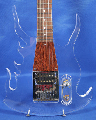 George Fedden & Travis Bean Aluminum Neck Acrylic Flames Electric Guitar