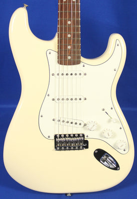 Fender Albert Hammond Stratocaster Strat Olympic White Electric Guitar