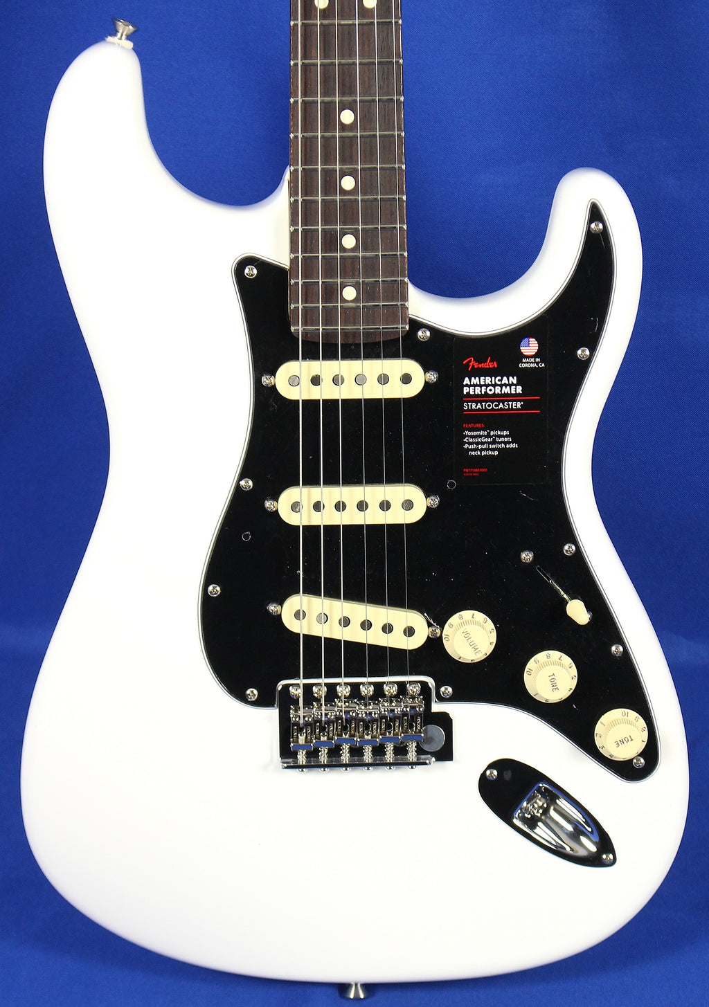 Fender American Performer Stratocaster Strat Arctic White Electric Guitar