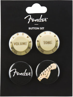 Fender 4 Pack Collectible Button Set