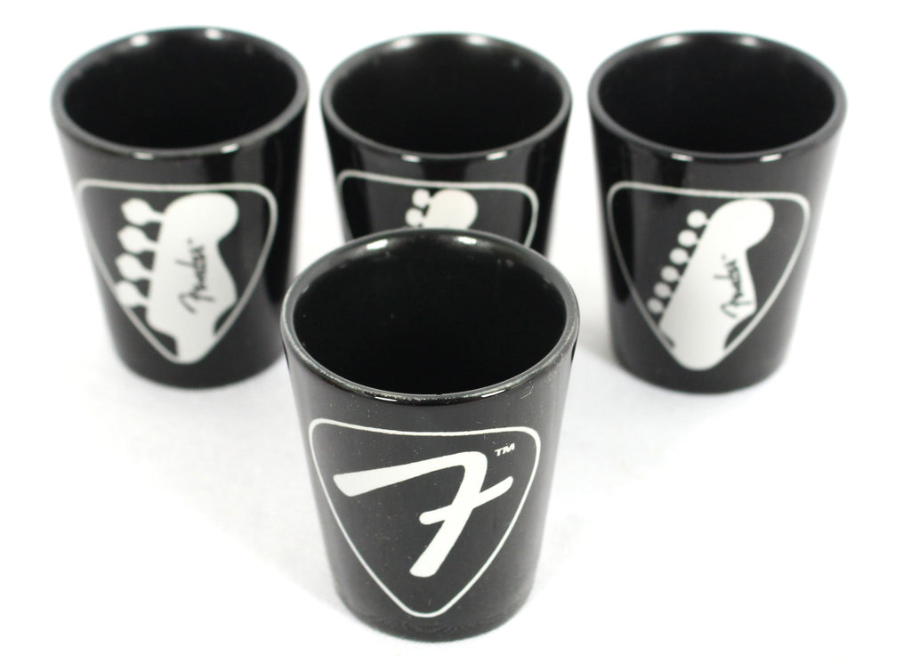 Fender Guitars Set of 4 Shot Glasses Shot Glass Set 9190540115