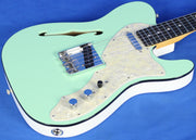 Fender Thinline Telecaster Tele 2-Tone Surf Green Electric Guitar