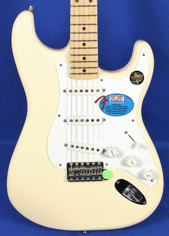 Fender Jimmie Vaughan Tex-Mex Olympic White Stratocaster Strat Electric Guitar