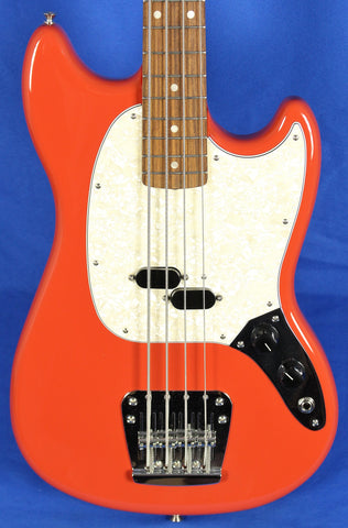 Fender Vintera 60s Mustang Fiesta Red Electric Bass Guitar