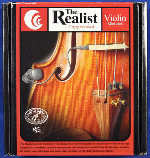 David Gage Steinberger The Realist Copperhead Acoustic Violin Transducer Pickup