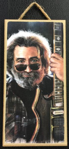 "Love & Laughter USA 10"" x 5"" Jerry Garcia Grateful Dead Wooden Sign"