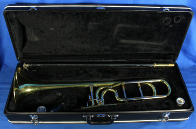 Used Jupiter JSL-636L-O Bb F Attachment Trombone T-Bone w/ Case & Mouthpiece
