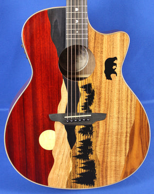 Luna Vista Bear Tropical Woods Acoustic Electric Guitar