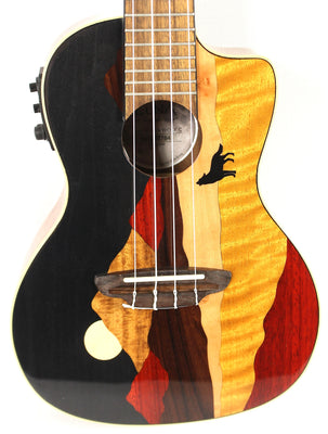 Luna Vista Wolf Tropical Woods Ukulele Uke Acoustic Electric Guitar