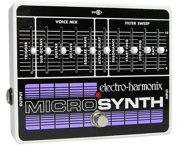 Electro Harmonix EHX Micro-Synth Analog Guitar Synthesizer Effects Pedal