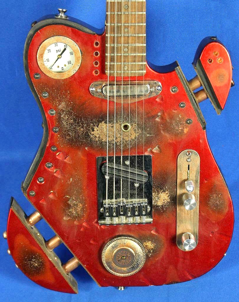 Moxy Guitars USA Custom Steampunk Tele Electric Guitar