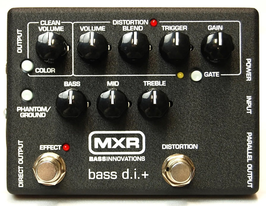 MXR M80 Bass D.I.+ Direct Box w/ Distortion Electric Bass Effects Pedal