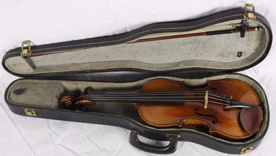 Used Vintage 4/4 Full Size Nicolaus Amatus 1644 Violin Highly Figured Amati Replica