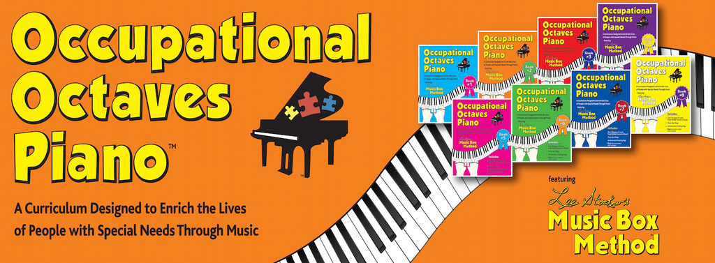 Occupational Octaves Piano Book Special Needs Music Instruction Lessons Books 1-8 Bundle