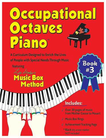 Occupational Octaves Piano Book Special Needs Music Instruction Lessons Method Books 3