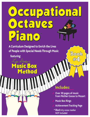 Occupational Octaves Piano Book Special Needs Music Instruction Lessons Method Books 4