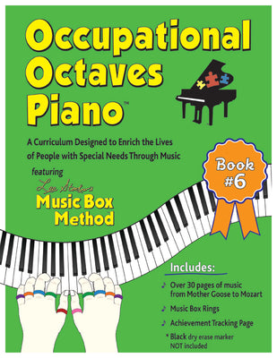 Occupational Octaves Piano Book Special Needs Music Instruction Lessons Method Books 6
