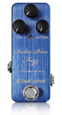 One Control Baltic Blue Fuzz Electric Guitar Effect Pedal BJF Series