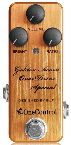 One Control Golden Acorn Overdrive Special Effect Pedal