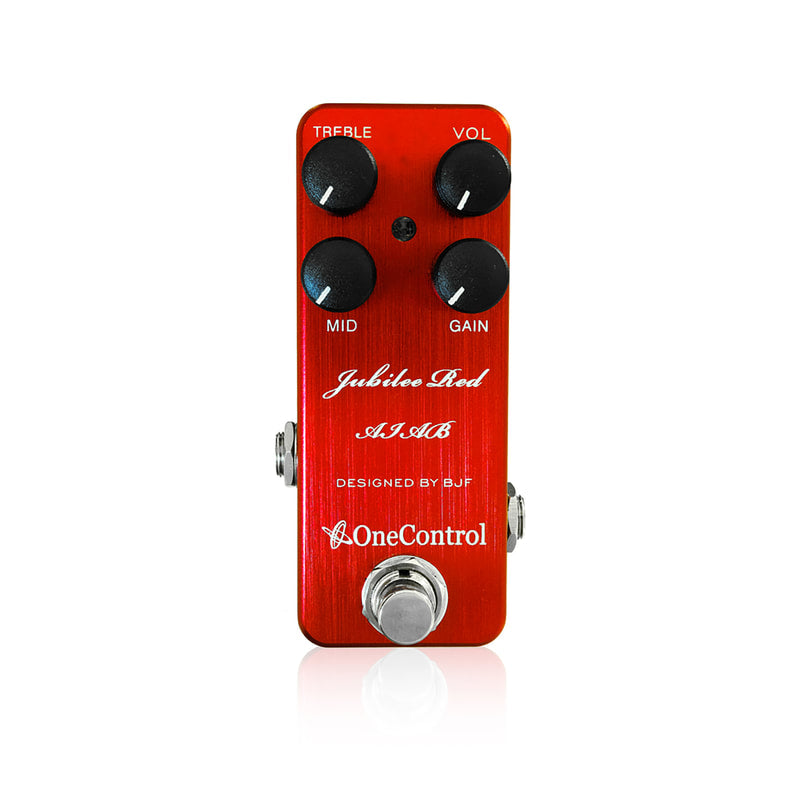 One Control Jubilee Red AIAB Distortion Effect Pedal