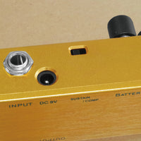 One Control Lemon Yellow Compressor Electric Guitar Effect Pedal BJF Series