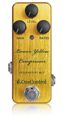 One Control Lemon Yellow Compressor Effect Pedal