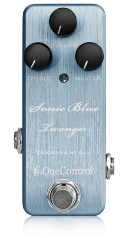 One Control Sonic Blue Twanger Distortion Effect Pedal