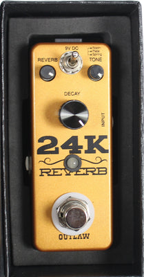 Outlaw Effects 24K Three Mode Reverb Electric Guitar Effect Effects Pedal