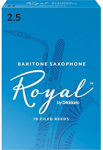 Royal Baritone Sax Reeds 2.5 Box of 10