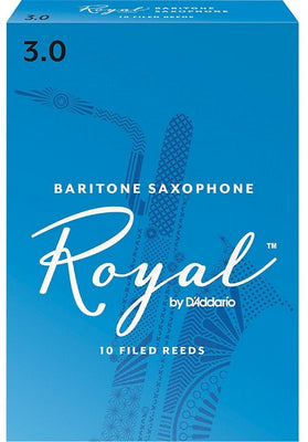 Royal Baritone Sax Reeds 3.0 Box of 10