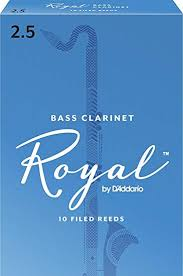 Royal Bass Clarinet Reeds 2.5 Box of 10