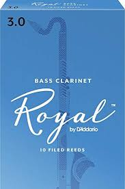 Royal Bass Clarinet Reeds 3.0 Box of 10
