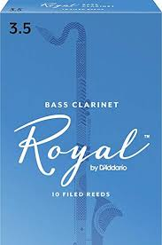 Royal Bass Clarinet Reeds 3.5 Box of 10