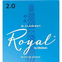 Royal Clarinet Reeds 2.0 Box of 10 Bb Clarinet Reed