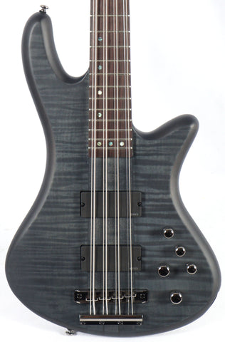 Schecter Stiletto Studio-8 Trans Satin Black 8-String Bass Neck-Thru EMG Pickups