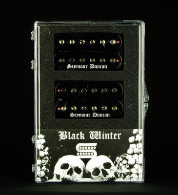 Seymour Duncan Black Winter Electric Guitar Humbucker Humbucking Pickup Set -  Black