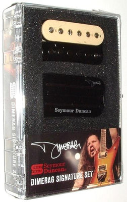 Seymour Duncan Dimbebag Signature Set Electric Guitar Humbucker Pickups - Black & Zebra