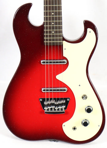 Silvertone Classic 1449-RSFB Red Silver Flake Burst Electric Guitar