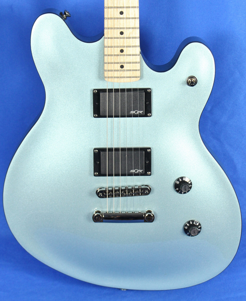 Squier Contemporary Active Starcaster Ice Blue Semi-Hollow Electric Guitar