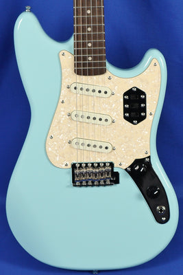 Squier Paranormal Cyclone Daphne Blue Electric Guitar
