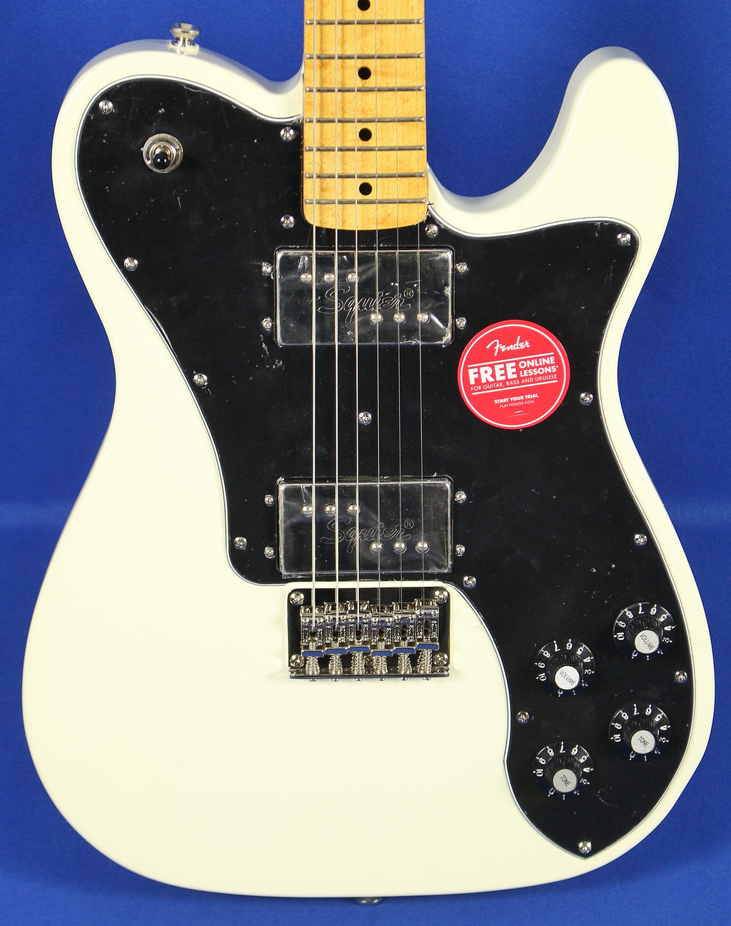 Squier Classic Vibe 70s Telecaster Tele Deluxe Olympic White Electric Guitar