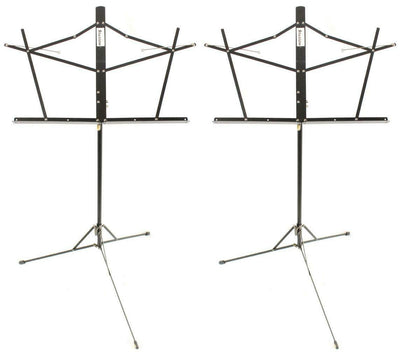 Starion ST-MS-BK Two-Section Black Folding Music Stand Pair