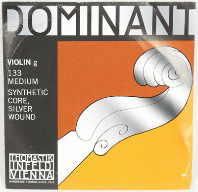 Dominant 133 4/4 Violin G Silver Wound String Thomastik Strings Orchestral
