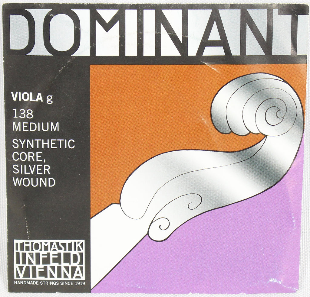 Dominant 138 Viola D1 Silver Wound String Thomastik Strings Orchestral