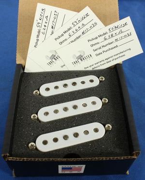 Tone Master USA Hand-Wound 59 Strat Alnico 5 Electric Guitar Pickup Set RW/RP
