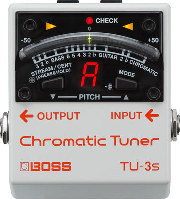 BOSS TU-3s Compact Electric Guitar/Bass Tuner