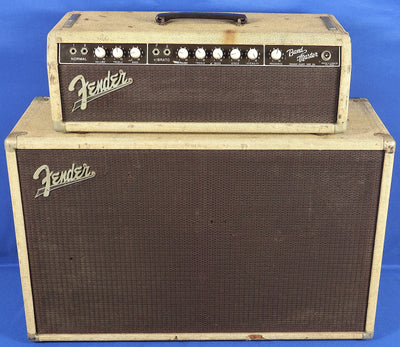 Vintage 1962 Pre-CBS Fender USA Bandmaster Brownface Amplifier